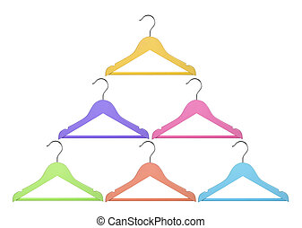 Hangers on White Background