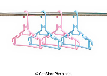 hangers with clipping path