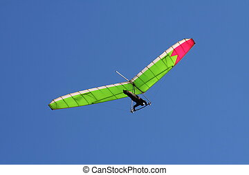 Hangglider in sky - Hang-glider