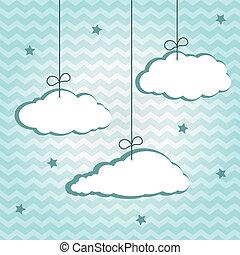 hangiing, wolkenhimmel