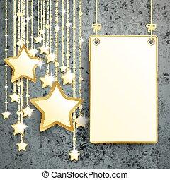 Hanging Board Stars Concrete Christmas