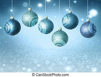 christmas balls with copy space.