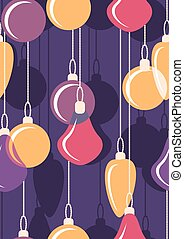 Hanging Christmas bals. Seamless. Vector illustration