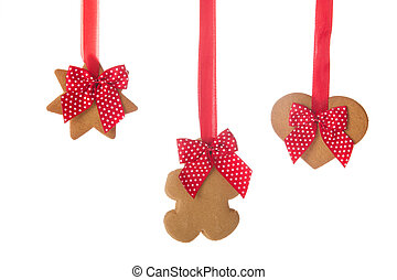 Christmas ginger bread cookies - Hanging Christmas ginger ...