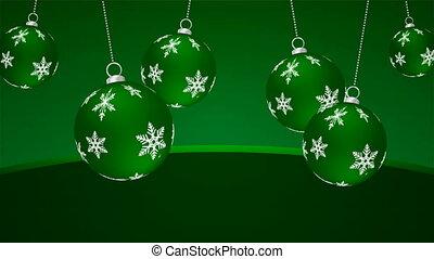 hanging christmas green balls