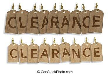 Clearance Vintage Labels - Hanging Clearance Vintage Labels....