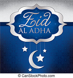Eid Al Adha - Hanging decoration Eid Al Adha card in vector ...