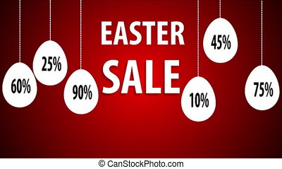 Hanging Egg Easter Sale, art video illustration.