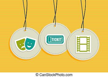 Hanging entertainment badges - Entertainment hang tags ...