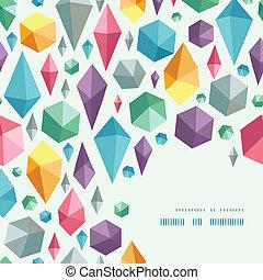hanging geometric shapes corner pattern background