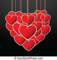Hanging Heart - illustration of hanging heart making a big ...