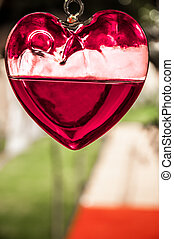 Hanging Heart of Glass