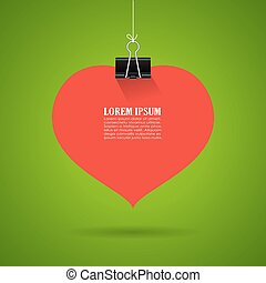 Hanging heart sticker