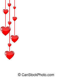 Hanging hearts background 2