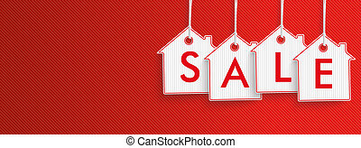 Hanging House Price Stickers Sale Header