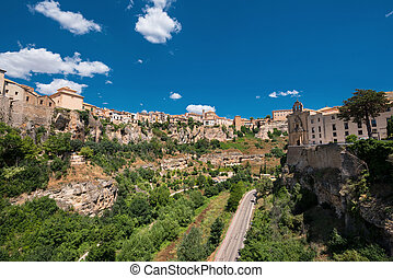 Hanging houses in Cuenca, Spain.