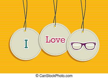 Hanging i love hipsters badges - I love vintage fashion ...