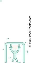 Hanging icon design vector