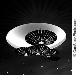 Hanging Lamp - Black And White Tone