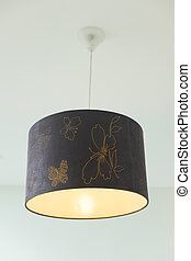 Hanging lamp in luxury room