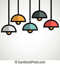 hanging lamp.vector illustration.