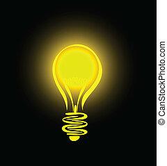 hanging lightbulb