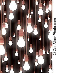 Hanging Lights - Illustration of lots of hanging light bulbs