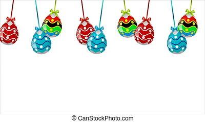 Hanging multi-colored Easter eggs - easter, egg, eggs,...