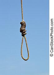 HANGING NOOSE - Hanging noose under the blue sky