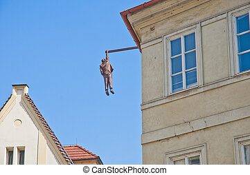 Hanging out sculpture