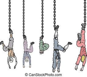 Hanging people