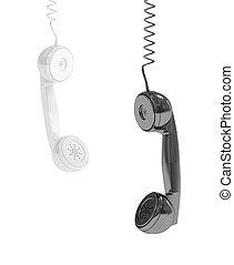 Awesome 3D Hanging Black Telephone Handset 3D Render Of A Black Telephone Wiring 101 Nizathateforg