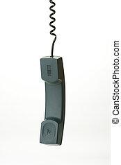 hanging phone receiver