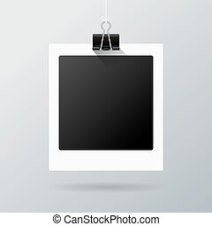 Hanging photo frame