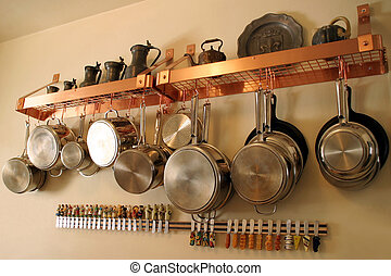 Hanging Pots and Pans 1 - Neat and orderly Residential...