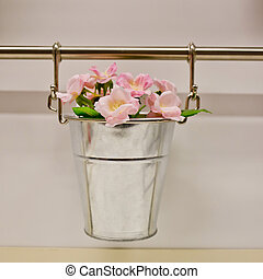 Hanging pots for flowers