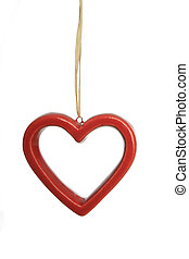 hanging red heart