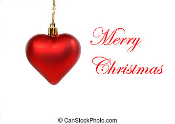 Hanging red heart shaped ornament