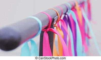 Hanging ribbons