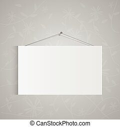 Hanging Sign - Illustration of a hanging sign isolated on a...