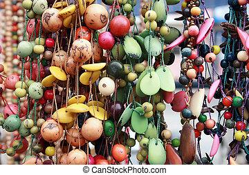 Hanging Tagua Beads