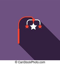 Hanging toy icon, flat style