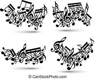 hangjegy, bot, set., zenés