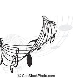 hangjegy, zene