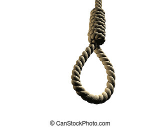 Hangman\\\'s noose isolated on white background - 3d render