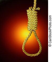 Hangmans noose - A hangmans noose is a rope loop with a...