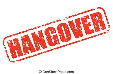 Hangover red stamp text on white