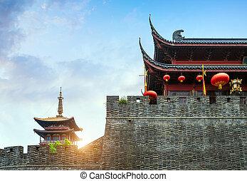 Hangzhou Ancient City Gate - Ancient city gate in Hangzhou, ...