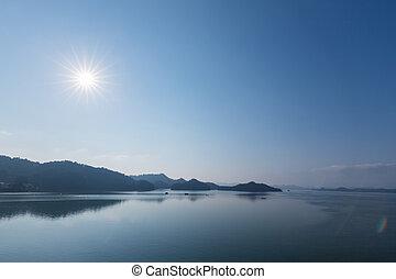 hangzhou thousand island lake landscape