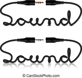 hangzik, connectors, vektor, bubi, kézírás